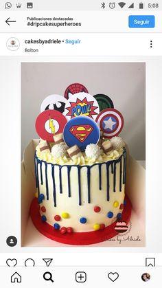 Hulk Birthday Parties, 6th Birthday Cakes, Superhero Birthday Cake, Avengers Birthday, Superhero Party, Birthday Cake Decorating, Cake Decorating Tips, Pastel Avengers, Marvel Cake