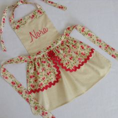 Hey, I found this really awesome Etsy listing at https://www.etsy.com/listing/253563188/toddler-apron-personalized-handmade
