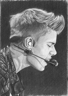 Amazing Justin Bieber Drawing - http://www.facebook.com/BelieberFamilyCom