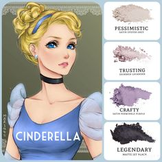 #cinderella inspire #eyemakeup: #satin oyster grey (pessimistic) and periwinkle purple (crafty), paired with #shimmer lavander (trusting) and #matte jet black (legendary). Build your quad at www.taniaslashes.com #cartoon #younique #princess #compacteyeshadow #pressedeyeshadow #taniaslashes
