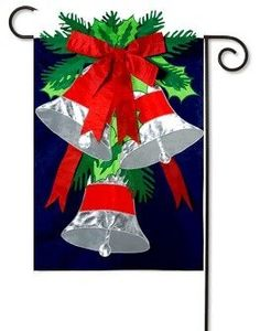 Garden Flag Silver Bells by House-Impressions. $4.95. Double-sided, read from both sides. Fade-resistant. Hand-crafted with soft high quality nylon fabric. Make an impression! These beautiful, brightly colored, creatively designed flags are the perfect way to greet someone to your home or garden. Made with tight-stitching and high quality material to last and last. Our applique regular size flags are extra-durable, weather-wear- and fade-resistant, sure to hang p...