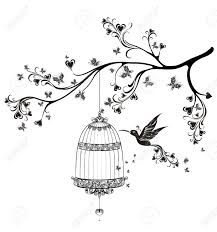 1000 ideas about dessin oiseau on pinterest photo for Cage d oiseau decorative