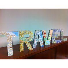 TRAVEL...my handmade, Pinterest-inspired office decor!