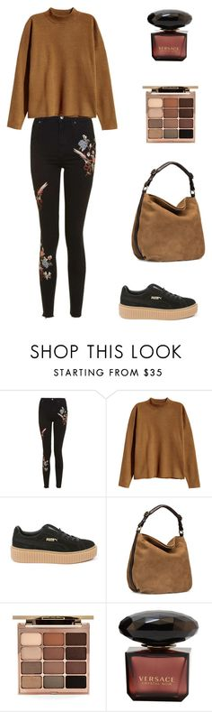 """""""Untitled #402"""" by oliviacarolineantonia ❤ liked on Polyvore featuring Topshop, H&M, Puma, UGG and Stila"""