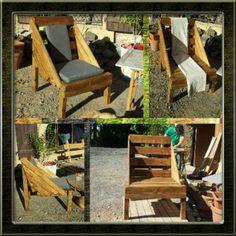 #Armchair, #Garden, #RecycledPallet