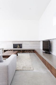 минималистическая гостинная