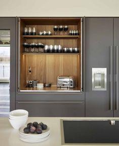 Best Kitchen Designs, Modern Kitchen Design, Interior Design Kitchen, Kitchen Decor, Kitchen Ideas, Modern Bar, Bulthaup Kitchen, Kitchen Cabinetry, Kitchen Appliances