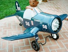 PEDAL PLANE PLANS FOR KIDS - F4U-1 CORSAIR JR. FROM AIRCRAFT SPRUCE - YES!!!! :D