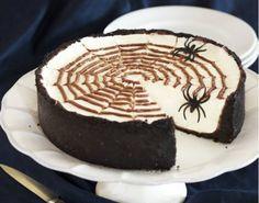 No Bake Spiderweb Cheesecake - Baking a cheesecake can be daunting to ...