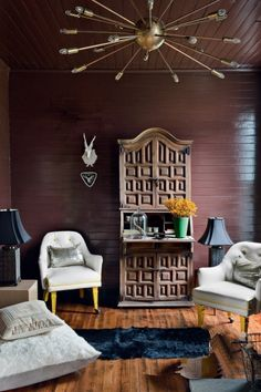"""The colours you'll want to decorate with in 2016: Iced Coffee """"With a tan disposition, Iced Coffee has a warmth that combines well with everything else,"""" Eiseman said. Image: The pannelled walls of Martin Bourne's New York Cottage."""