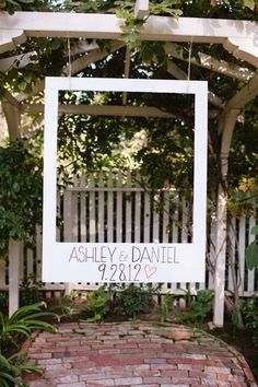 Polaroid Photo Booth. This Polaroid photo booth is perfect for the couple to take wonderful shoots to treasure their sweet memories. You can mark the date and the couple's names on the frame too. http://hative.com/wedding-ideas/