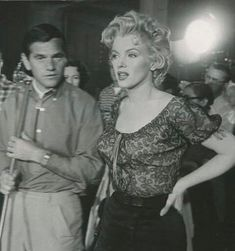 Marilyn and Milton Greene on location for the movie Bus Stop