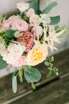 Rustic flowers: http://www.stylemepretty.com/little-black-book-blog/2015/01/20/rustic-elegant-fall-lakeside-wedding/ | Photography: Mint Photo - http://mymintphotography.com/