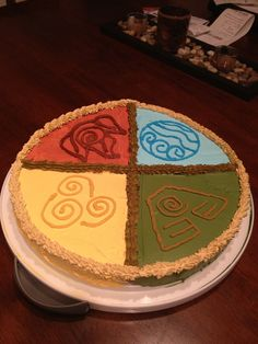 This is my Avatar: The Last Airbender cake! Peanut butter and chocolate chip cookie cake! Yum!!