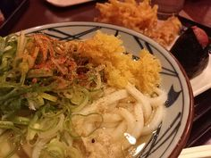 "Japanese cannot do without Sanuki Udon even for a day. The ""Udon"" and ""Sanuki Udon"" is a completely different food. Today's special lunch plate. $5.50 Tempura topping is about $1.00 http://alike.jp/target/search_result_all.html?keywords=%E4%B8%B8%E4%BA%80%E8%A3%BD%E9%BA%BA"