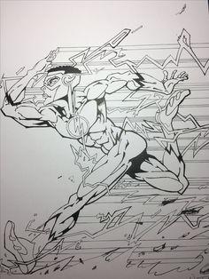 Kid Flash fan art.