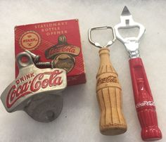 Vintage Starr Original Box Wall Mount Bottle Opener Wood Gibson Hand Held Lot  | eBay