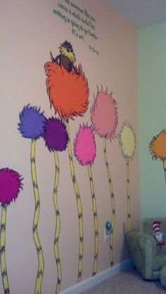 Christian's room Dr. Seuss The Lorax