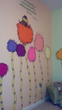 Christian's room Dr. Seuss The Lorax