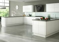 Image result for HANDLELESS CREAM GLOSS KITCHEN