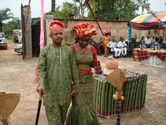 Bride and groom at Igba Nkwu ceremony.