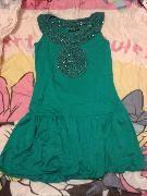 全新湖水綠泡泡腳連身裙