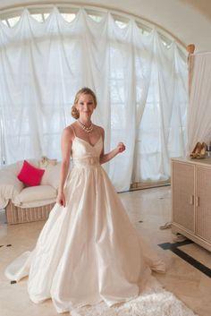 Beautiful dress with pearl belt
