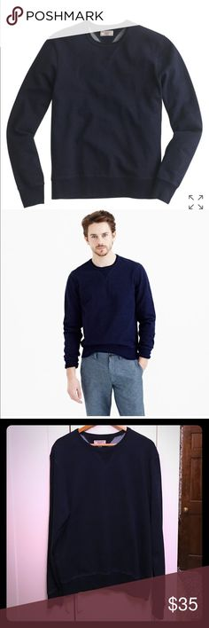 NWT Wallace and Barnes J. Crew Indigo Sweater Brand new with tags Wallace and Barnes (from J. Crew) Indigo Dyed Crewneck Sweater. This is a  thick quality sweater. Size is XL. J. Crew Sweaters Crewneck