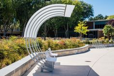 bus arc, outdoor seating, shaded seating, bus stop, bike stop