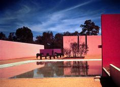 // Cuadra San Cristobal house by Luis Barragan Architect: Los Clubes 1966-68 Luis Barragan Architect Armando Salas Portugal/Barragan Foundation