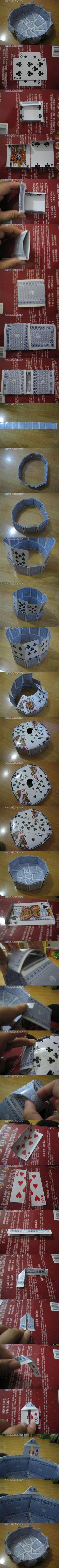 DIY Vase of Playing Cards DIY Vase of Playing Cards by diyforever