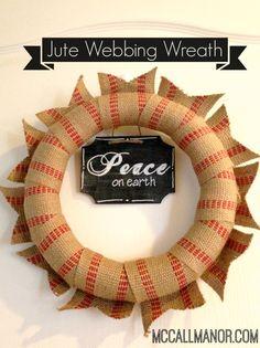 Jute Webbing Wreath { a storitorial } - McCall Manor