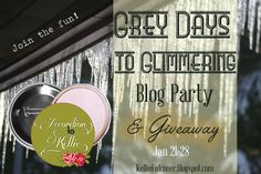 Gray Days to Glimmering Blog Party and Giveaway at Accordion to Kellie!  Enter to win a fabulous prize from the Wall Tent Button Co...