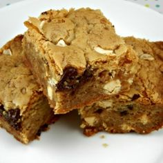 Double Chocolate and Toffee Blondies by TheTastyFork