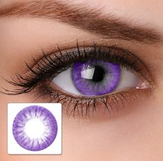 purple contacts   Colour Contact Lenses HA14 Electric Purple - Buy Online. Hairspray ...