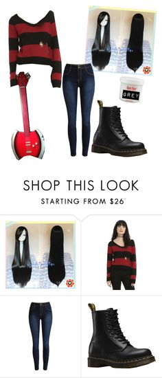 """""""Marceline cosplay"""" by ashleyxoxyoutube13 ❤ liked on Polyvore featuring Dr. Martens"""