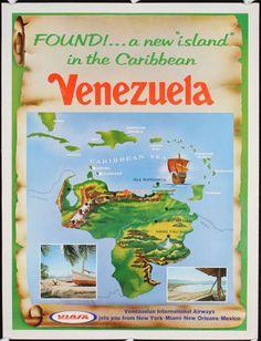 Old-Original-1960s-Venezuela-Travel-Poster