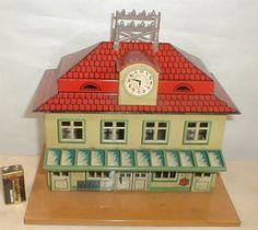 Large German Tin Railroad Station