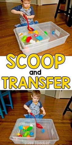 Water Scoop and Transfer – A Toddler Activity: #busytoddler #toddler #toddleractivity #easytoddleractivity #indooractivity #toddleractivities #preschoolactivities #homepreschoolactivity #playactivity #preschoolathome