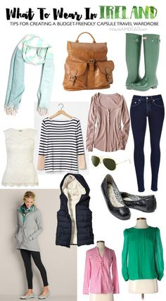 What To Wear In Ireland: Packing For Ireland In The Spring! - Here is what I wore in Ireland + tips for creating a budget-friendly capsule travel wardrobe!