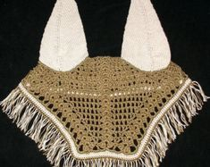 Horse Fly Bonnet Crochet & Knit, PATTERN PDF, Ear net, Fly mask, Equine cap.Photo Tutorial!
