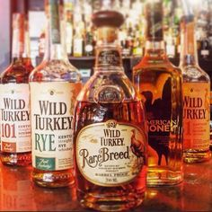 This #ThirstyThursday lineup is representing one of Kentucky's finest families #WildTurkey #Bourbon #Whiskey #AlmostFriday