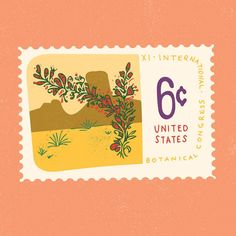 Another vintage stamp for Day 11 #100dayproject #illustration #pacecreative…