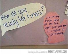 finals...