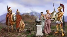 illustration of adam hook showing a macedonian greek warrior from the army of alexander the great Ancient Sparta, Ancient Rome, Ancient Greece, Ancient History, Greek History, Greco Persian Wars, Greek Warrior, Mycenae, Spartan Warrior