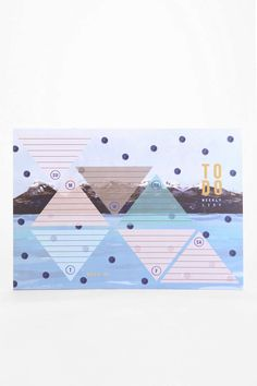 Ferme A Papier Triangle Mountain Weekly Planner - Urban Outfitters