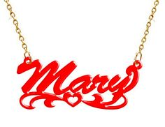 Name Necklace Acrylic Personalized Hand Made by angelunder20, $21.99
