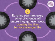 Did you know you can increase the life span of your tires by rotating every other oil change? Car Care Tips, Care Care, Driving School, Passion Project, Repair Shop, Oil Change, Marketing Ideas, Urdu Quotes, Business Travel