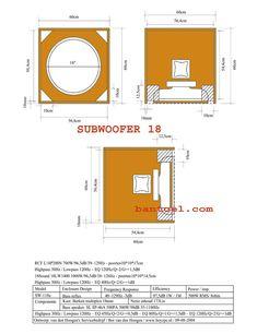 "Ukuran Box speker Subwoofer Black Spider 18"" - BANTOEL .COM"