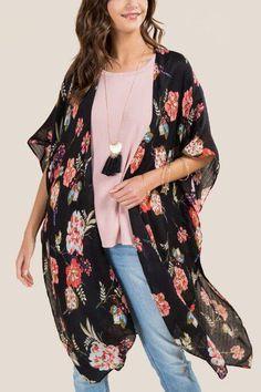 fcd372365e52 Olympia Black Floral Ruana ~CLICK TO BUY~